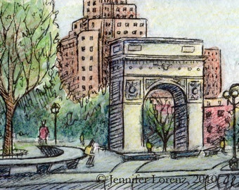 ACEO-Washington Square Park (Print)