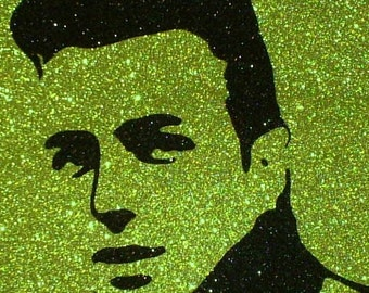 Joe Strummer of The Clash Inspired Retro Punk Glitter Art Decor ~CLEARANCE~