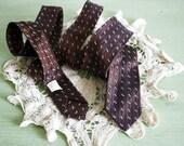 SALE Vintage Mid Century Skinny Brown Necktie
