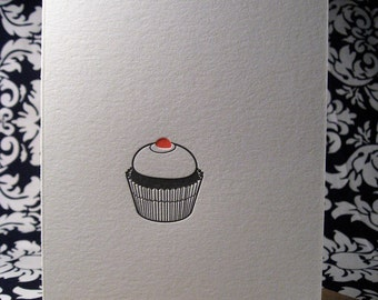 Cupcake Letterpress Greeting Card
