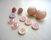 Vintage Buttons -- light pink