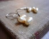 Tiny Pearl Drop Earrings -Sarah