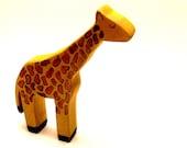giraffe wooden toy, giraffe waldorf toy, giraffe figurine, eco friendly toys,