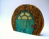 fairy door toy, wood toys, waldorf toys, wooden gnome door, wood toys