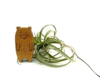 bear wood toy, modern baby toys, cute bear toy, waldorf animal toys, wood toy animals