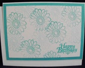 Happy Birthday Handmade Card Set in 4 colors