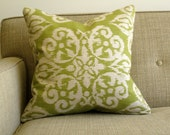Flower Medallion Ikat Print Pillow