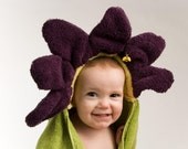 Light Purple Flower Hooded Towel