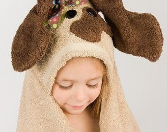 Girl Dog Hooded Towel