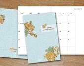 Pocket Monthly Calendar Mini