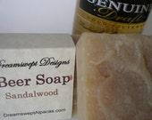 Beer Soap - Vegan - Handmade Soap Bar - Sandalwood - Many Fragrances Available