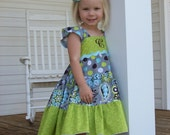 Girls Dress Sewing Pattern, Girls Clothing Pattern, Dress Sewing Pattern, Matilda Jane Pattern, Baby Doll Twirl, Twirly Dress, Ellie Dress