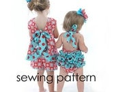 Ruffled Pinafore Sewing Pattern, Baby Dress pattern, Girl Dress Pattern, Easy - Baby Girl Tutorial, PDF,