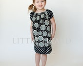 Peasant Dress PATTERN, GIrls Long/Short Sleeve, PDF Sewing Tutorial  - Brooke