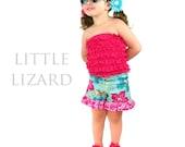 Easy Ruffle Shorts Sewing Pattern, Girls Ruffle Shorts Pattern, Girls Shorts Pattern, Sizes 6m-8 and doll