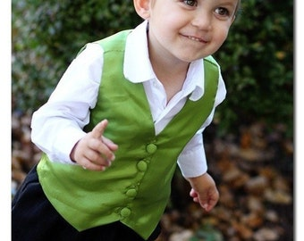 Vest Sewing Pattern - Boy & Baby PDF Tutorial, Reversible, Sizes 3m-7