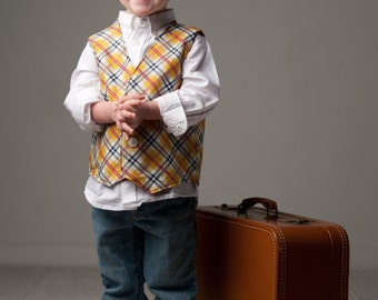 Boys Vest Sewing Pattern, Easy Boys Pattern, Boys Easter Clothes PDF Tutorial, 3m-7  Reversible