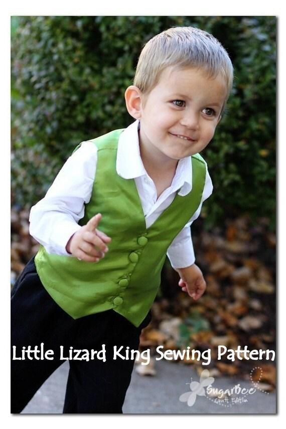 Vest Sewing Pattern - Boy & Baby PDF Tutorial, Reversible, Sizes 3m-7
