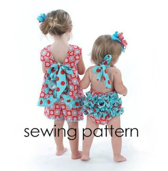 Ruffled Pinafore Sewing Pattern, Baby Dress pattern, Girl Dress Pattern, Easy - Baby Girl Tutorial, PDF,