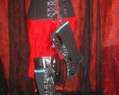 Pin Striped Under Bust Corset and Spats set