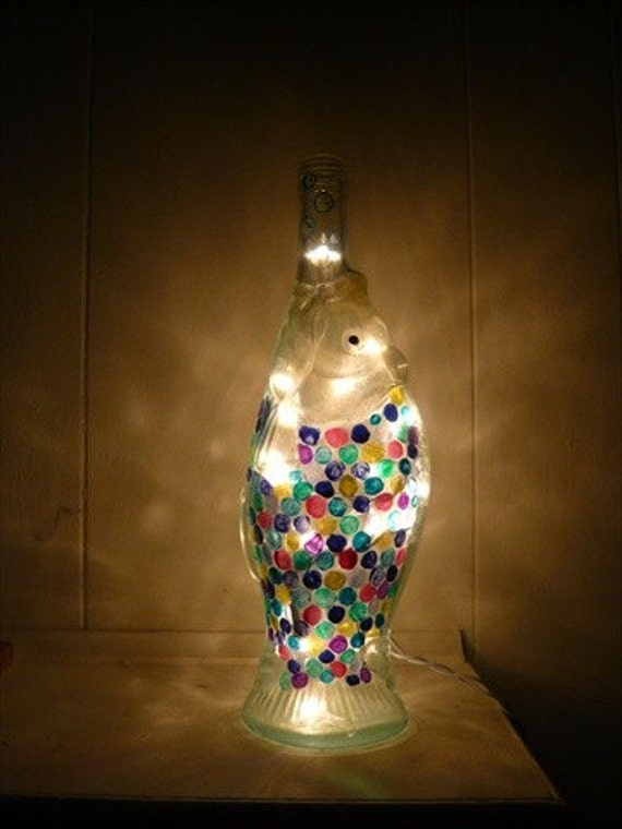 Fish shaped lighted wine bottle for Fish wine bottle