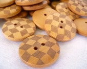 WB10030 - 23mm Diamond Shape Crafted Wood Buttons, 23mm Diamond Shape Crafted Wooden Buttons (4 in 1 set)