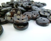 WB11043 - 13mm Small Flower Crafted Wood Buttons, 13mm Small Flower Crafted Wooden Buttons (10 in 1 set)