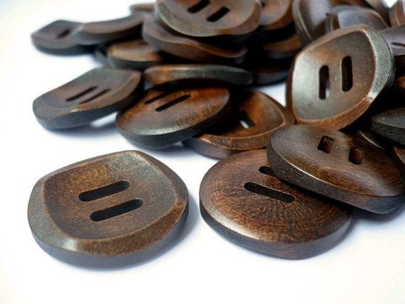 25mm Wooden Buttons, Wood button, Funny Eye Design Buttons,WB10151 (4 in 1 set)
