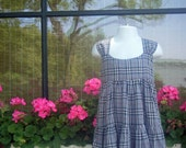 Listing for Heather G. only    No Purchase                      Grey Burberry Plaid Girls Dress - Size 5T - 6T