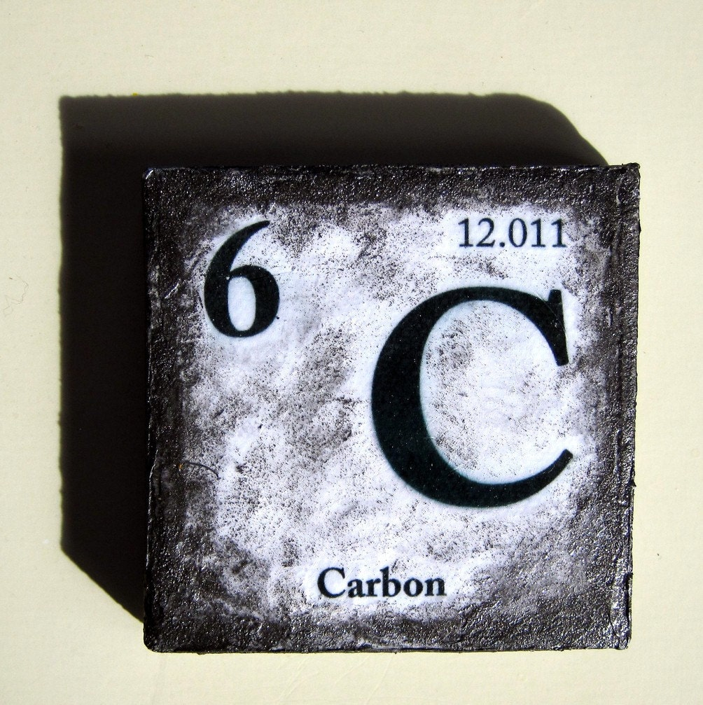 Carbon element mini painting refrigerator art by MelissaSherowski