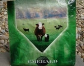 Recycled Feed Sack Cow Mineral Green Market Bag Tote Purse