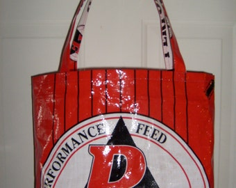 Recycled Livestock Feed Bag Market Bag Tote or Purse