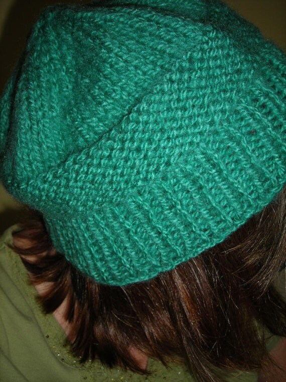 Women's Knitted Hat in Country Green One Size Fits All