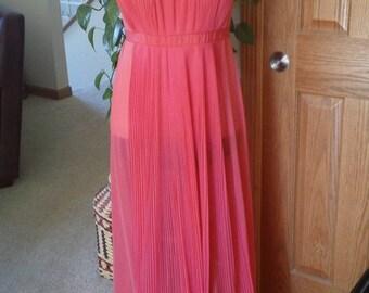 50s Vintage Vanity Fair Crystal Pleated Nightgown