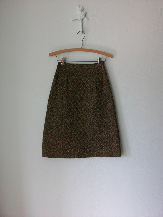 Calico Skirt & Blazer ... 1970's Girls Suit Set ... size 8