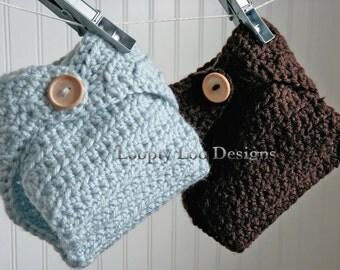 Crochet Diaper Cover, Newborn Photo Prop, Baby Boy, Baby Girl, Handmade, Newborn - Sizes NEWBORN TO 12 MONTHS - more color options