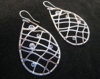 Aquamarine Diamond and White Sapphire Nets