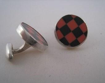 Onyx and Jasper Checkered Cufflinks