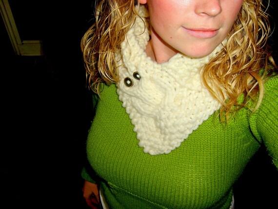 Owl Cowl Knitting Pattern : Owl Cowl Knitting Pattern