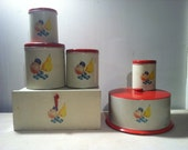 Bread Box, Cake Holder, Canister set of 6