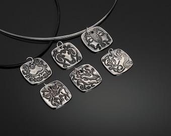 Fine Silver Horoscope Necklet