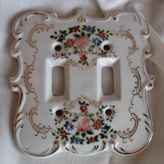 Vintage Porcelain Light Switch Cover By Goodlookintreasures