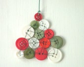Sale: 50% off with coupon code WINTER50 Christmas Button Tree Ornament