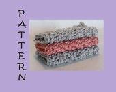 PATTERN - Sensational Spa Mini Washcloth Set (Crochet) - FREE SHIPPING