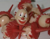 Vintage Wilton Clown Cake Toppers, 1 dozen