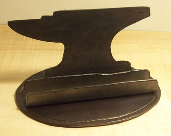 Blacksmith anvil business card holder, ironwork