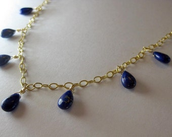 Badakhshan Blues- Lapis Lazuli and Gold