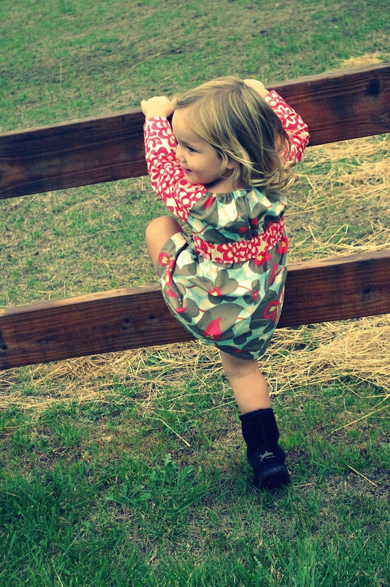 Fanciful Fall Frock by Ruthie Bell newborn-5T