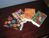 Peace, Love And Spit-Up Burp Cloth Set ... Stylish, Affordable, Multi-Purpose ... Ready To Ship