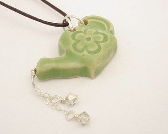 Monthly specials - Apple green watering can shaped pendant (JAG-T003-1)